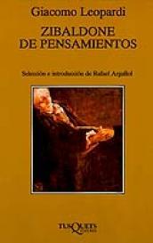 Imagen de cubierta: ZIBALDONE DE PENSAMIENTOS